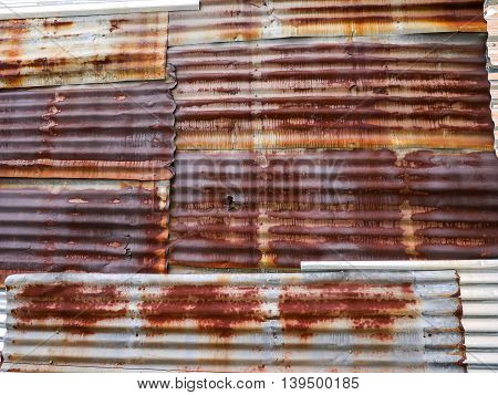 Background and texture of Wall of Tin roof