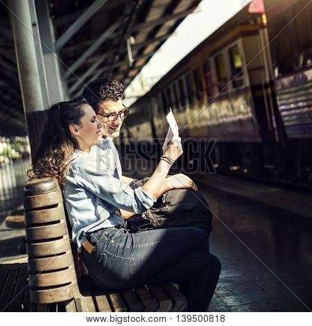 Lovers Couple Togetherness Dating Travel Journey Concept