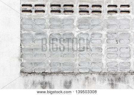 Gray grunge brick wall background. Brick wall background texture. Stone texture in black and white colors. Concrete texture brick background. Background of brick wall. Brick background. Close up.