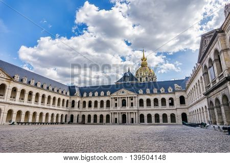Hotel national des Invalides or The National Residence of the Invalids in Paris, France.