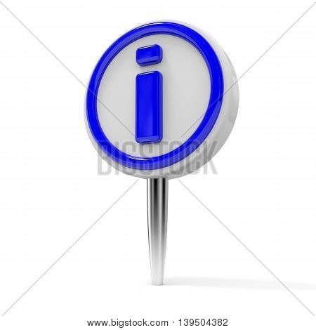 Push Pin With Info Sign.