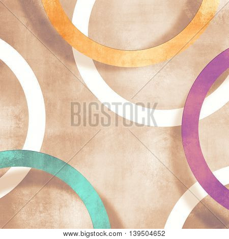 Abstract retro background with circles 50s 60s 70s