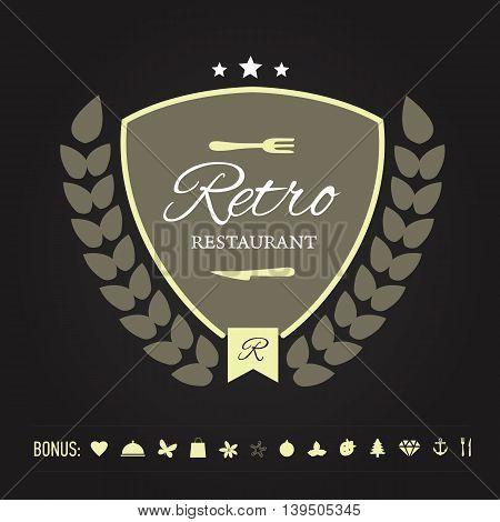 Retro Vintage Insignia or Logotype. Vector illustration.