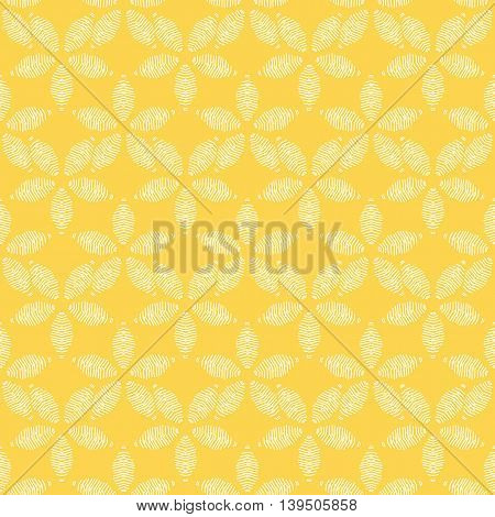 Vector illustration of abstract seamless background with flowers.