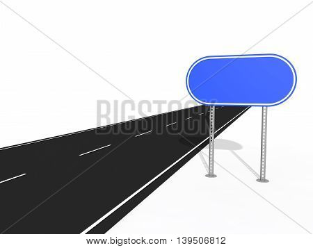 text free road sign plate. isolated on white background.