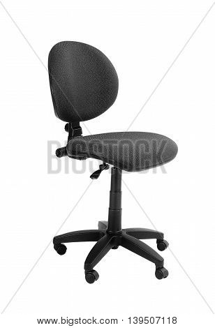 Black office chair isolated on a white background