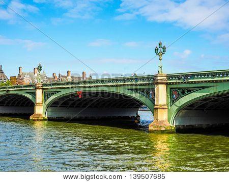 Westminster Bridge In London Hdr