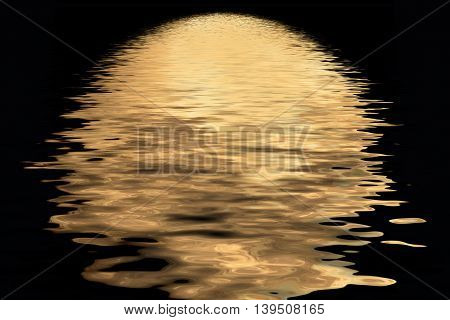 Shadow Of The Moon In The Water
