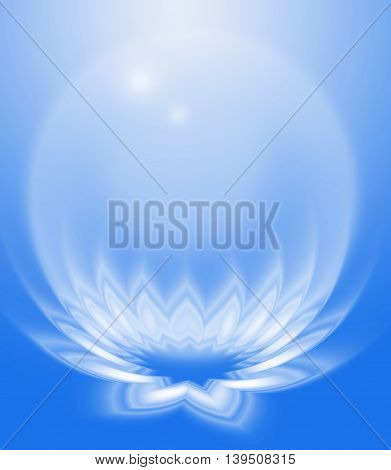 Abstract Background Blue Zen Lotus and bubble