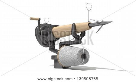 3D Harpoon Cannon Design