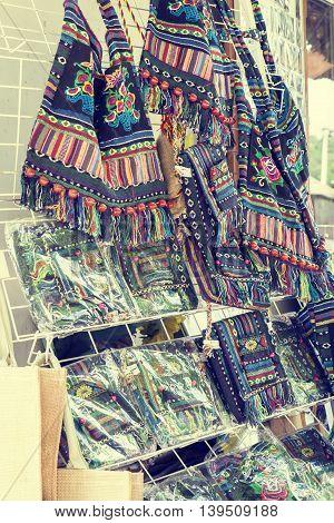 Many Ukrainian Souvenirs Women's Handbags At The Fair