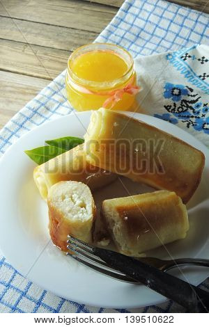 Pancakes With Cottage Cheese And Honey