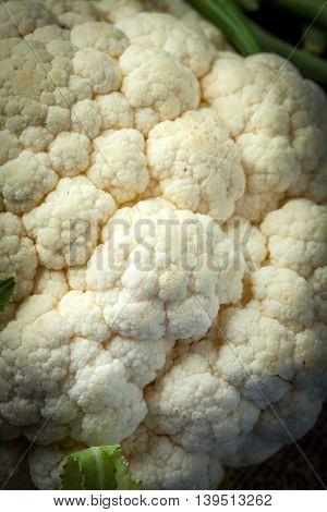 Close-up Of The Cauliflower .