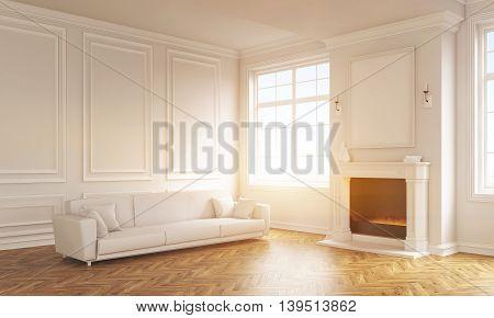 Living Room Interior Toning