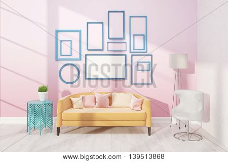 Light Living Room With Sofa
