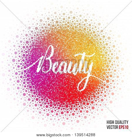Beauty design for greeting card template, with splash and artistic explosion effect. Pink, red, purple vector.