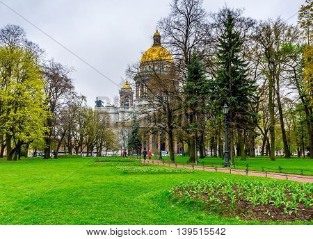 At the Senate Square in St. Petersburg in Russia