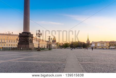 View from the Palace Square in Saint-Petersburg in Russia