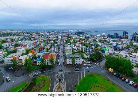 Aerial View Of Reykjavik Center