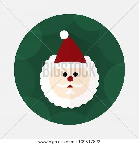 Santa Claus flat icon with long shadow
