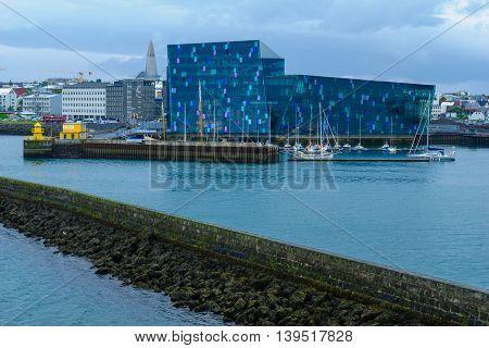 Harpa Hall In Reykjavik