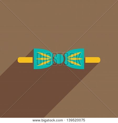Flat icon with long shadow butterfly tie