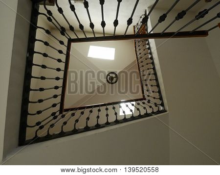 a long stair inside of a house