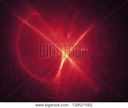 Abstract glowing shape, explosion concept