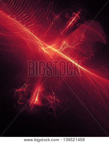 Abstract waves concept. Glowing explosion. Energy rays