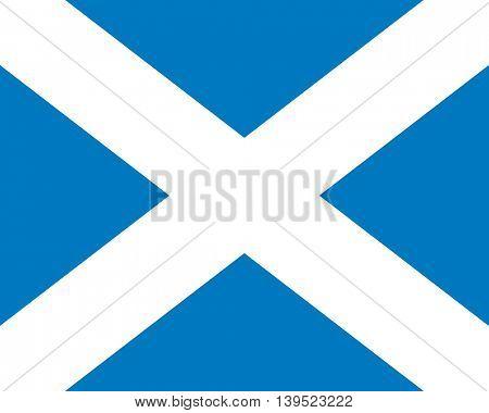 Vector Scotland flag