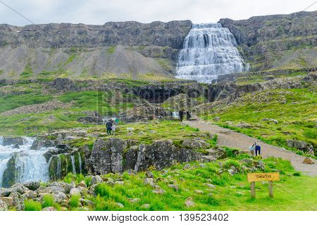 Dynjandi Waterfalls, In The West Fjords