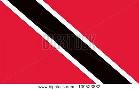 Vector Trinidad and Tobago flag