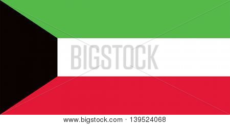 Vector State of Kuwait flag