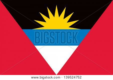Vector Antigua and Barbuda islands flag