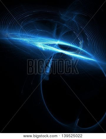Abstract background with waved lines. Magic glowing waves for science concepts