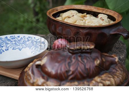 Dumplings Cooked In Pottery