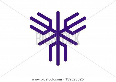 Japan Osaka prefecture Sakai city flag illustration