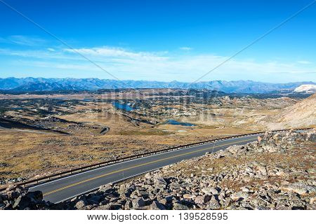 Highway And Dramatic Landscape