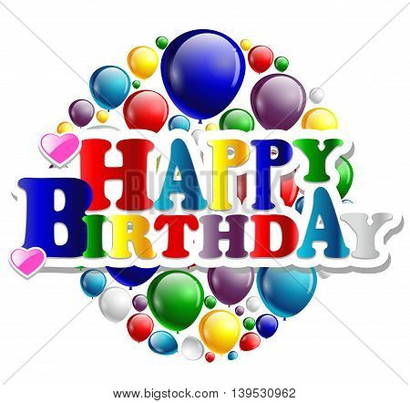 birthday with balloon background for you design