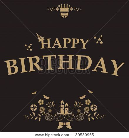 Birthday Card with black background for you design