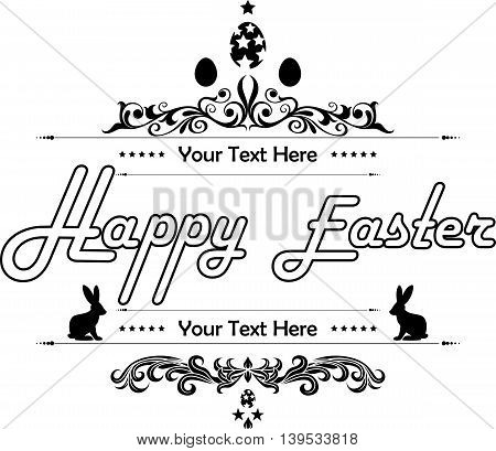 Happy Easter on white background for you design