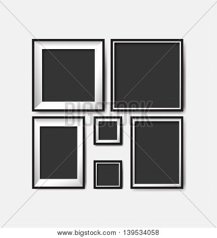 blank picture frame template set for you design