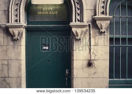 City Morgue Entrance