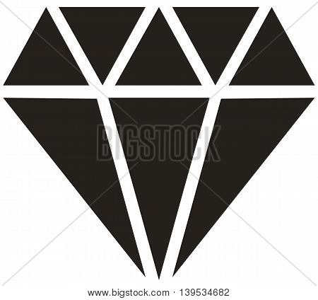 Diamond Icon gemstone computer icon jewelry vector