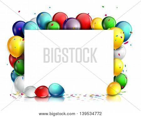 cute colorful Birthday background with blank sign