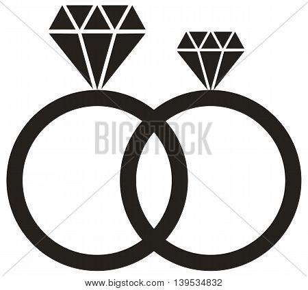 Diamond Ring icon wedding ring diamond ring symbol