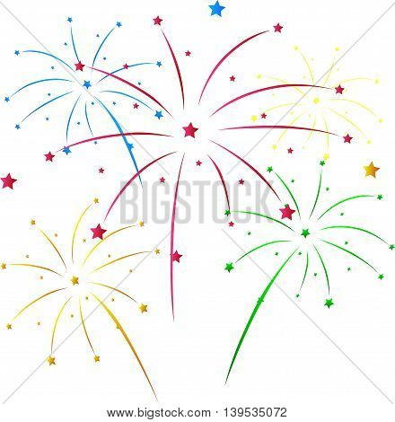 beauty colorful of fireworks for you design