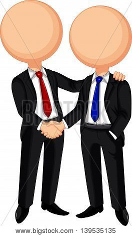 cute two Business handshake for you design