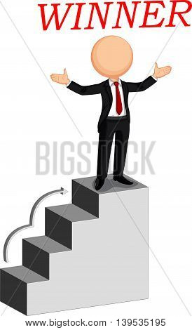 Business man the winner for you design