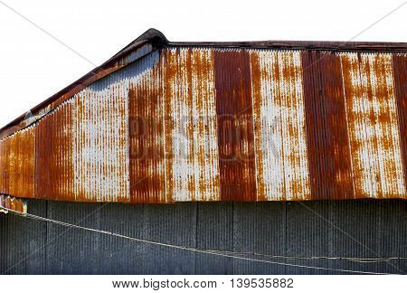 Antique rustic brown metal sheet in Thailand